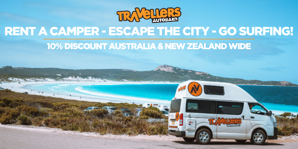 Rent a camper escape the city go surfing - Atoll Travel Travellers Autobarn